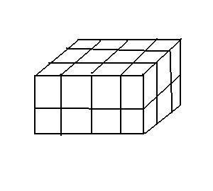 在一个长宽高分别为2,3,4厘米的长方体的表面全部涂满图片