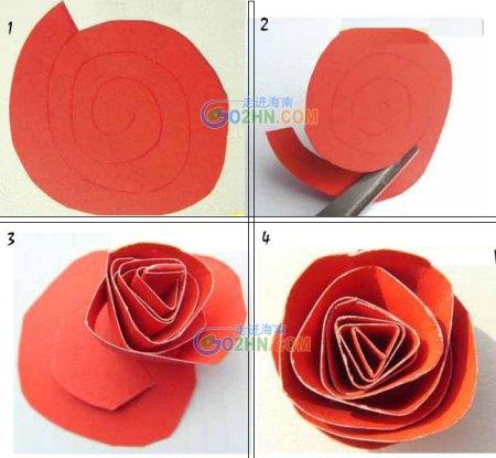玫瑰折法.不要视频.简单漂亮.要图解.