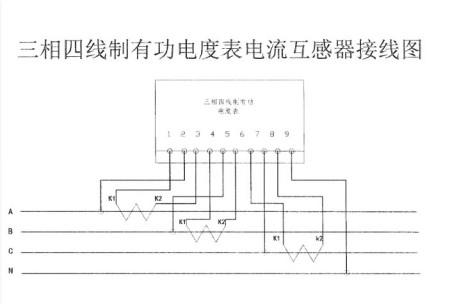 三相四线电度表互感器接线图?