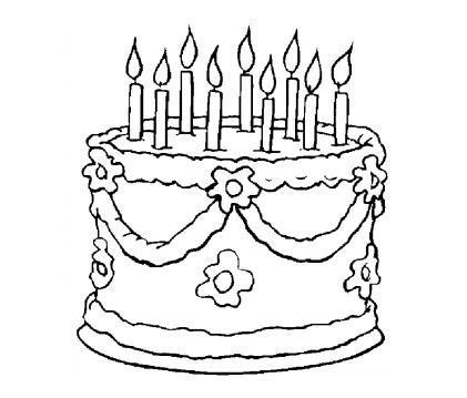 蛋糕设计图片手绘黑白