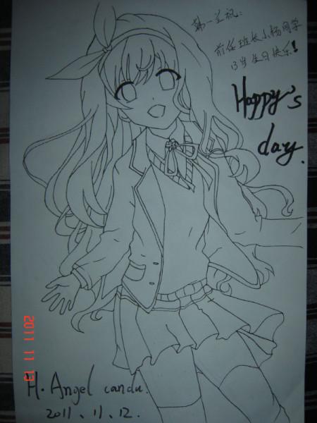 画日本动漫人物的简笔画
