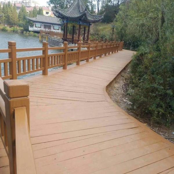 河源在园林景观中用了哪些仿木类的产品?(图2)