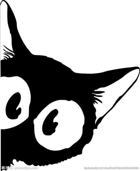 求卡通黑猫图片,优雅,霸气,可爱的都可以,急求,在线等