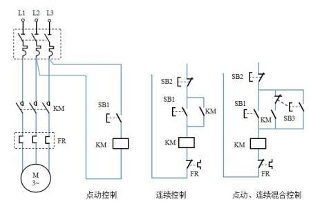 六个地方启动停止控制一个电机和六个电磁阀图片