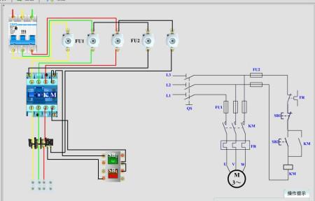 三相异步电动机直接启动电路图