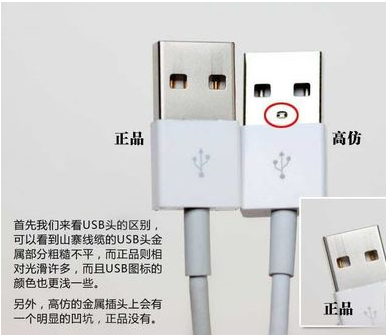 苹果数据线usb接口