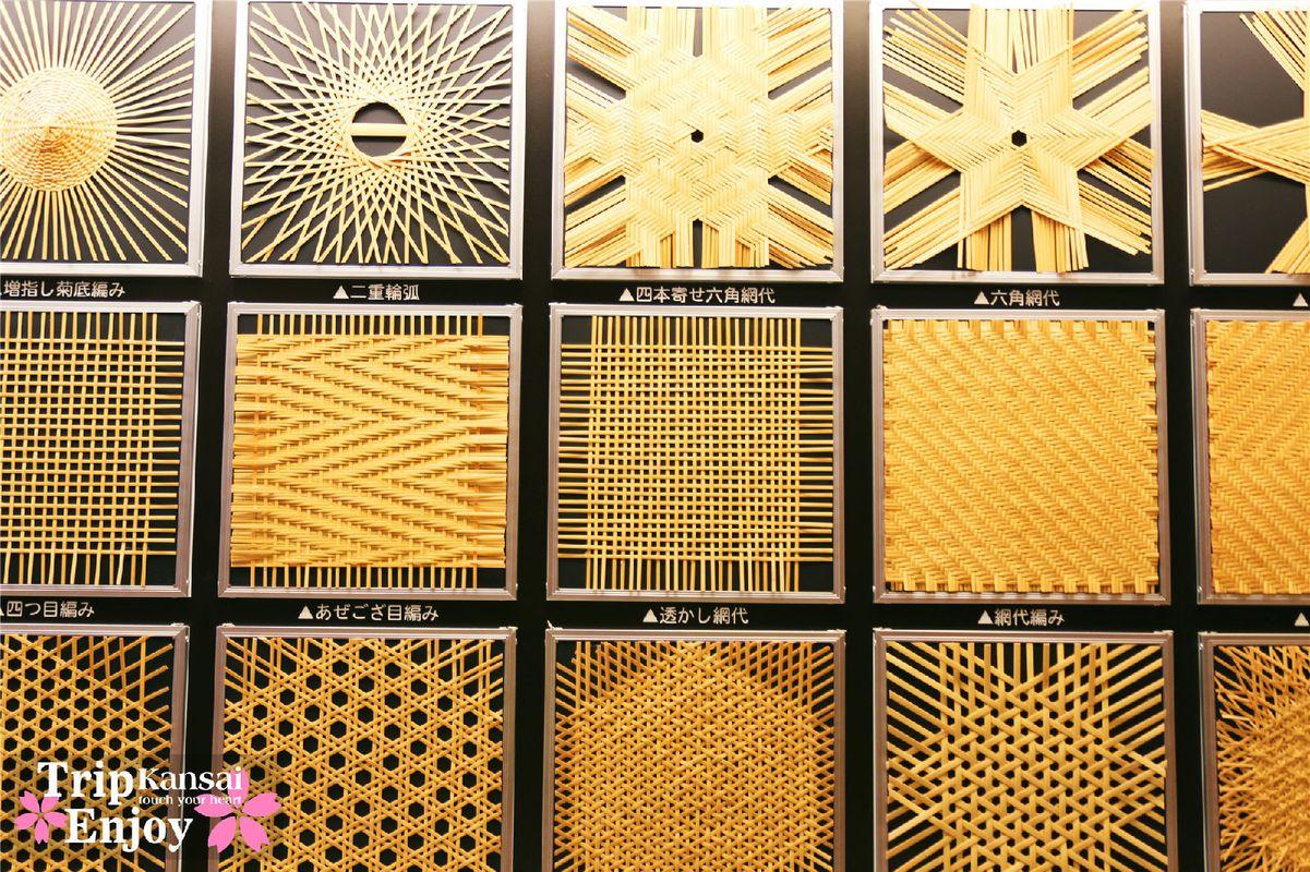 竹编博物馆还展示竹编,上图是编织花纹.图片