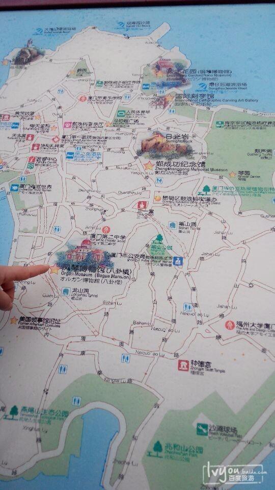 厦门景点地图手绘