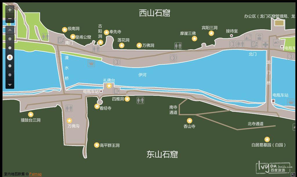 手绘香山游览图