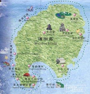 赶紧戳右边 →_→ 来源:66555533 涠洲岛地图 来源:66555533 涠洲岛景