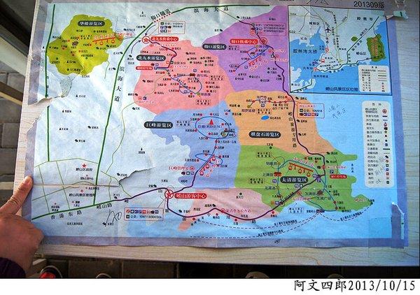 崂山风景区内地图