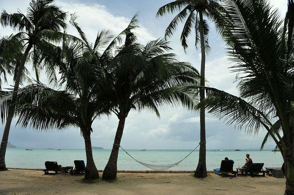 热带海岛的特色,阳光,沙滩,海浪,芭蕉树图片