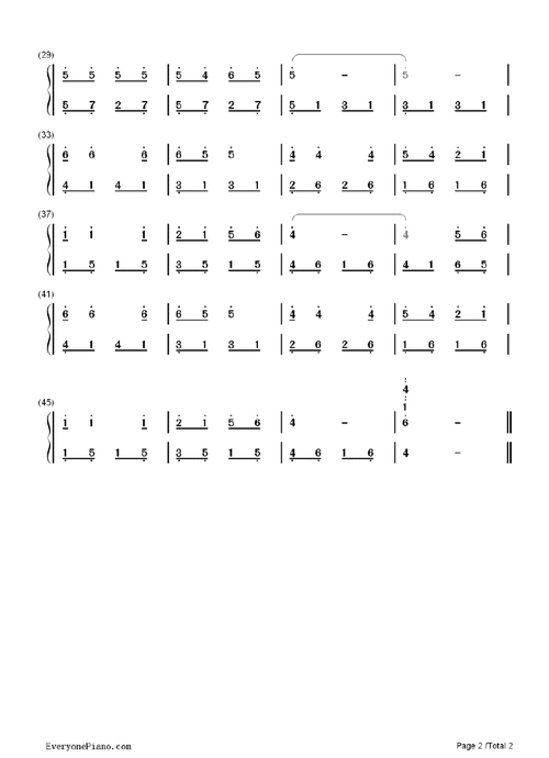 紅顏舊 鋼琴雙手簡譜