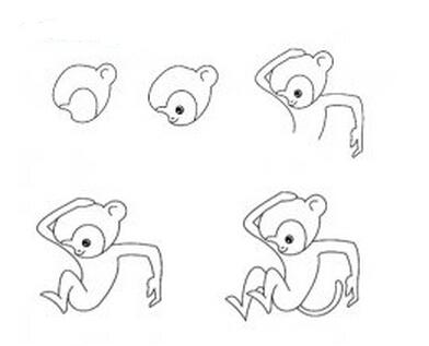 猴子简笔画图片