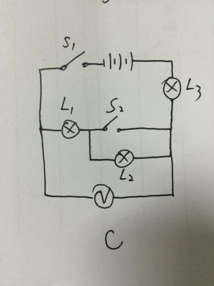 初三物理,画下a,b,c,d的电路图,急.