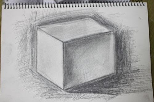 刚自学素描,为什么我画的这个正方体怎么总觉得有点怪