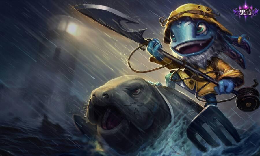 谁有英雄联盟小鱼人的图片.发几个给我.谢谢.