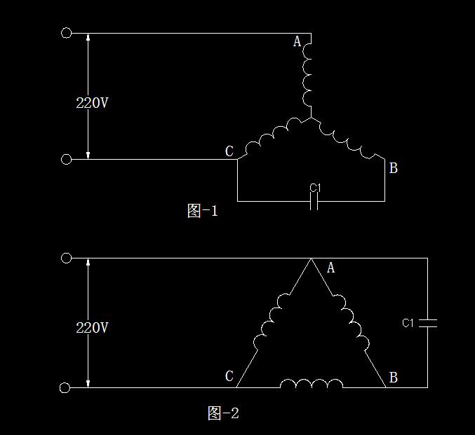 三相电机改单相接线图我有个1000w三相电机如何改成单相电机