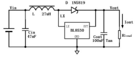 5v干电池升压3.3v控制led手电筒的电路