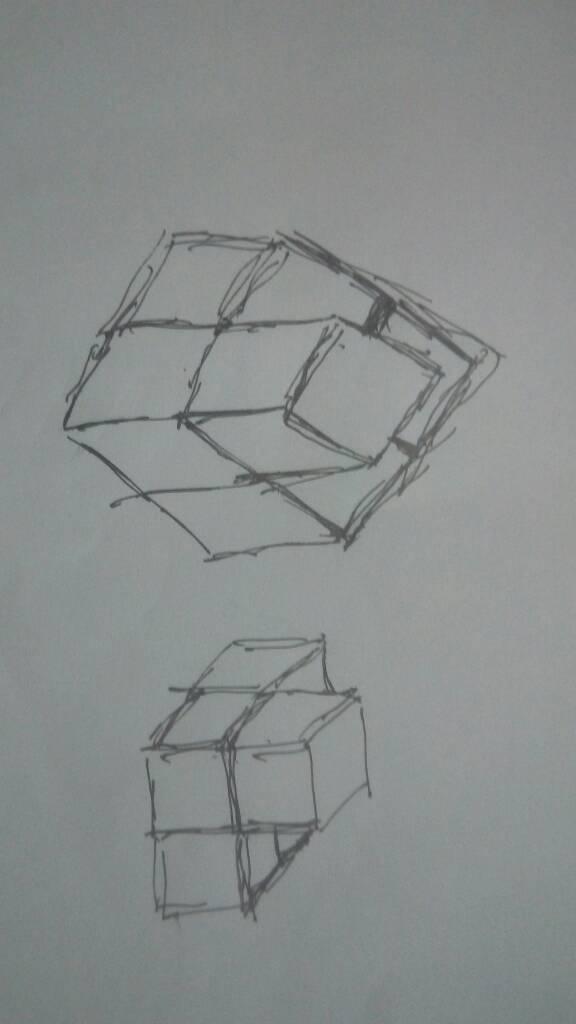 这个几何体的图形怎么画?
