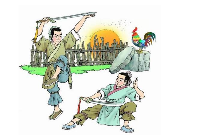 祖逖闻鸡起舞_闻鸡起舞:祖逖和刘琨都是晋代著名的将领,两人志同道合,气意相投,都