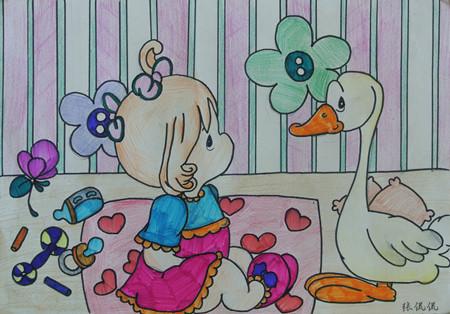 五年级画画(可爱的;向上的,积极的,阳光的.)要图片图片