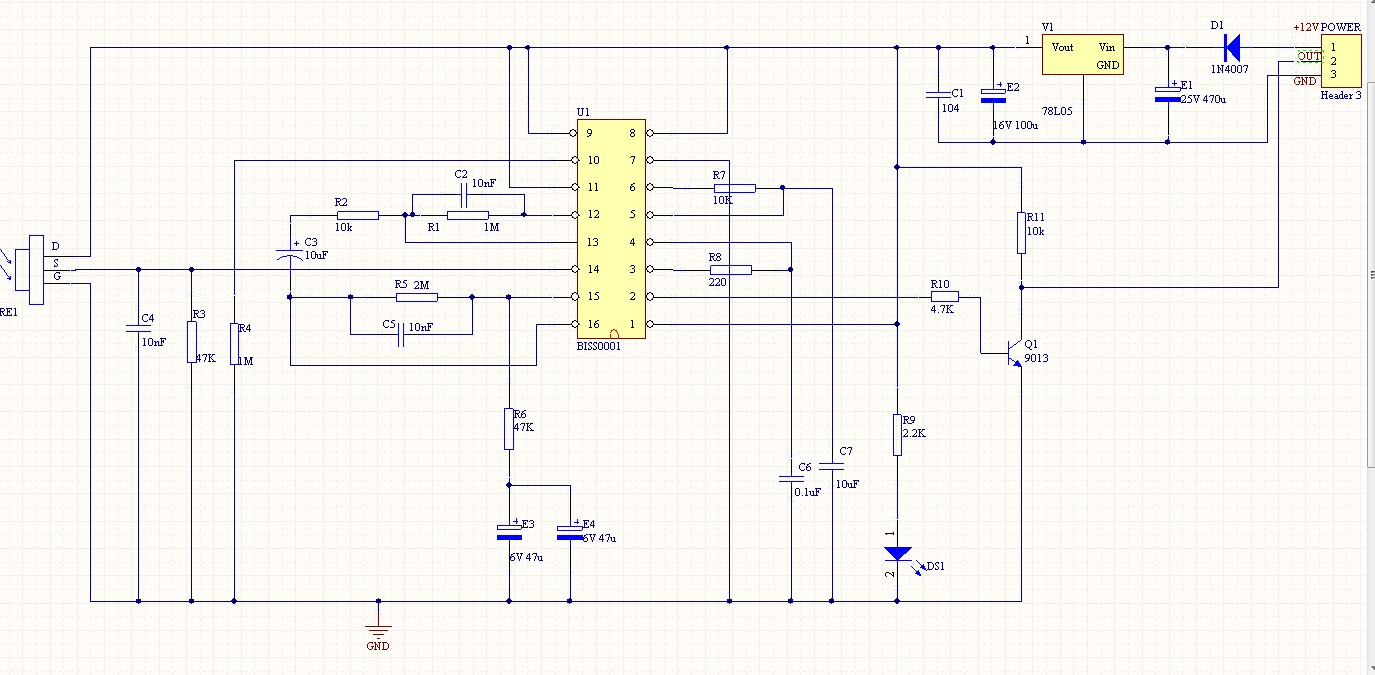 求stc89c52单片机控制biss0001红外传感器的电路图及程序,急,谢谢!
