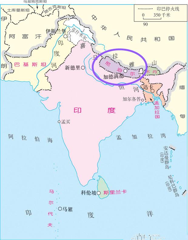亚洲国家_尼泊尔在亚洲,属于南亚国家