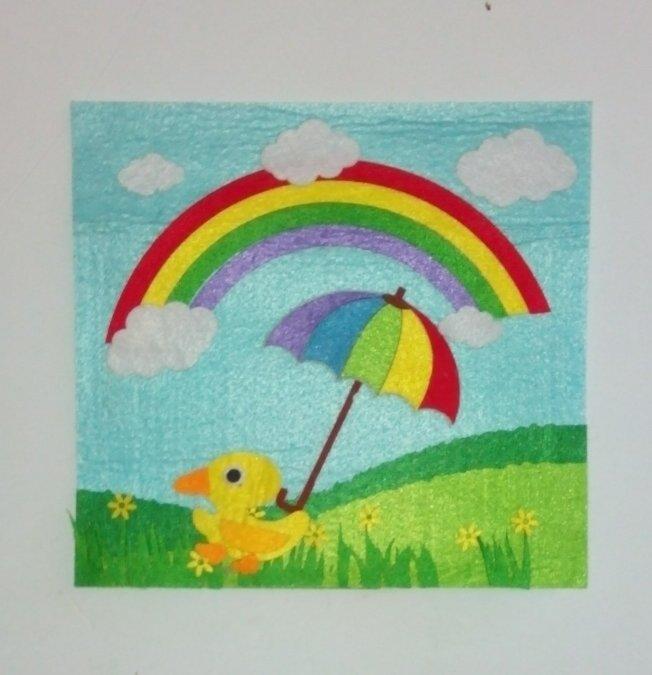 幼儿园主题墙伞花朵朵边框图片