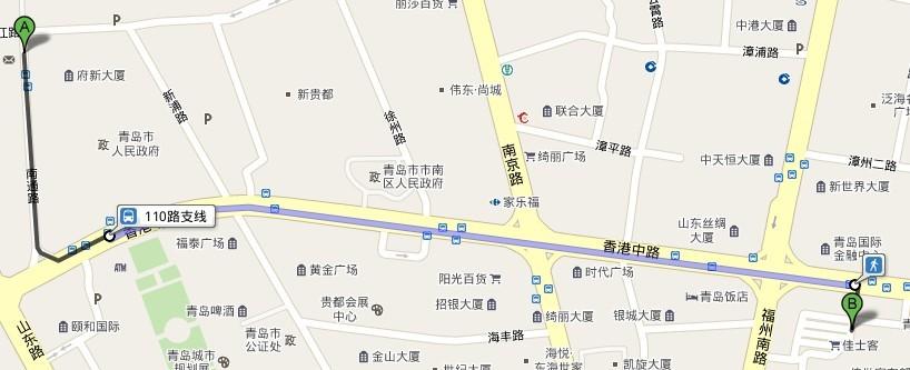 从城阳区政府做502路车车能到青岛市市南区香港中路72