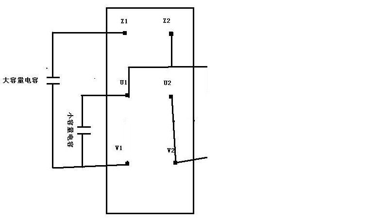 双电容单相异步电动机怎么接线.
