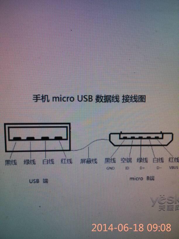 向ta提问私信ta 追答 参照micro usb 接线图,安卓机都一样 已赞过 已
