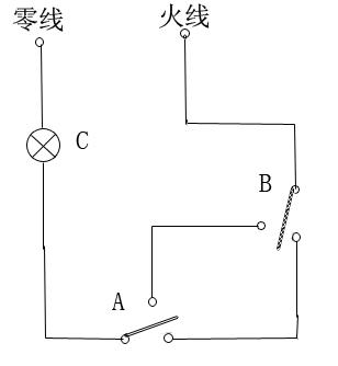 卧室简单电路图