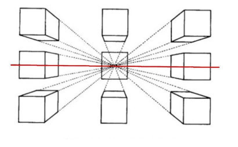 一点透视中的正方形怎么画,正方体怎么画 (记住不是长