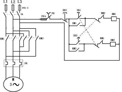 我要一个380v接触器互锁的实物接线图和一个按钮互锁的接线图谢谢