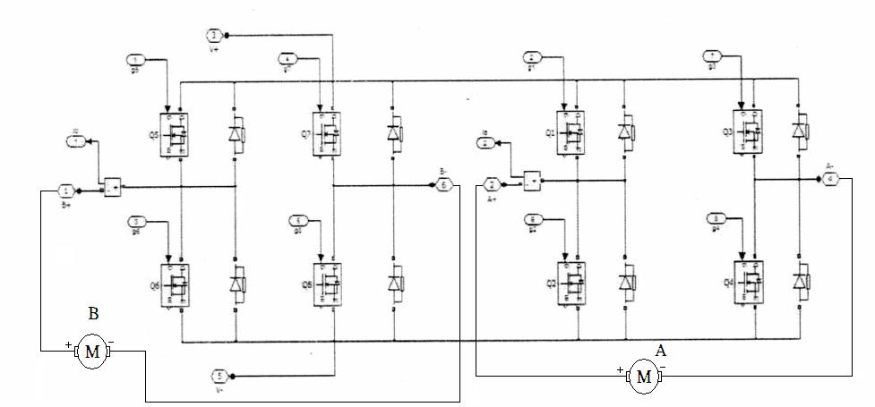 mos管h桥电机驱动电路