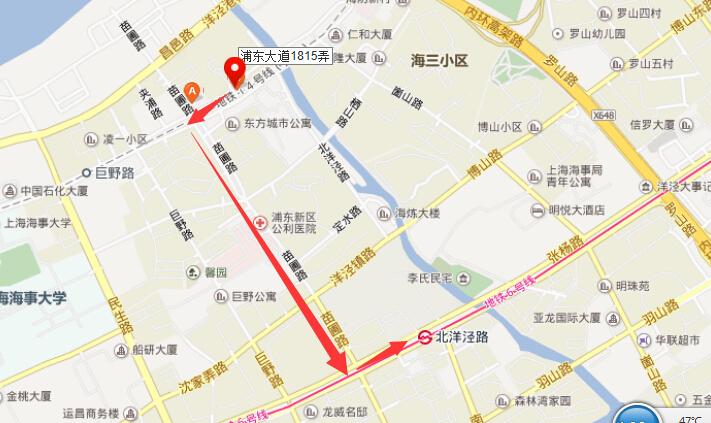 浦东大道1815弄是地铁哪一站最近