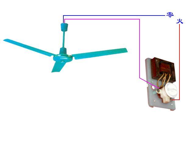2,实际接线将调速器作为一个开关,串接到吊扇控制回路.