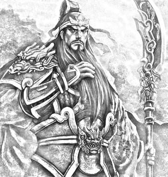 求动漫版黑白铅笔画的刘备关羽张飞赵子龙曹操孙权周瑜的图片,就像