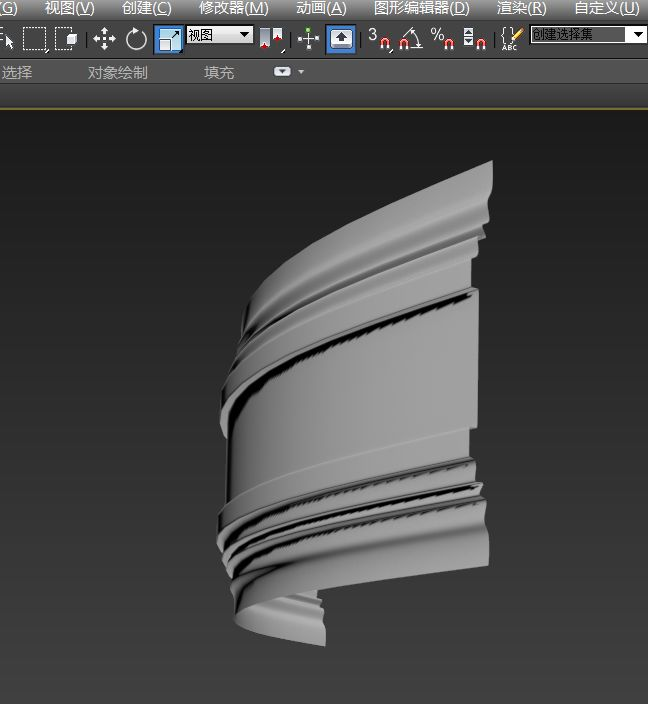 3dmax石膏线弧形怎么做图片