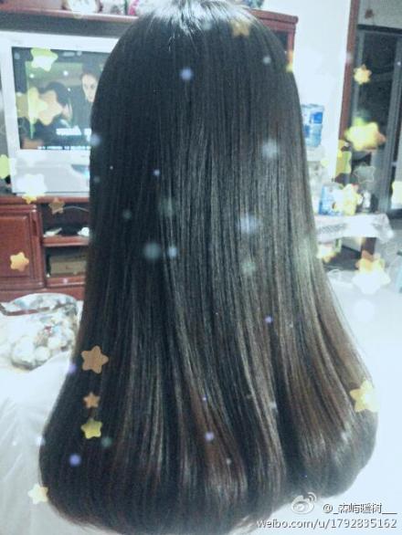 中长发 中间直发[要定型的]发尾内扣 这种发型要怎么烫出来?图片
