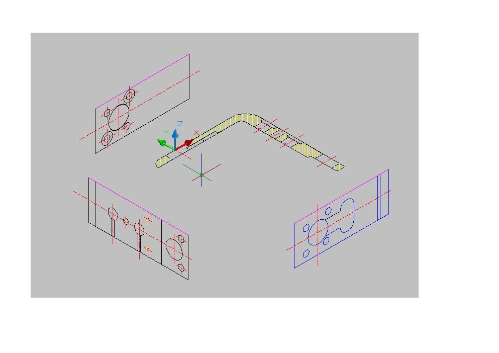 CAD由2D工坊旋转成3D,旋转的图纸是角度微三维图片