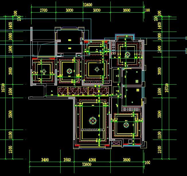 cad倒角上是同个图,面的里两个布局图中的一个cad模型条直线两图片