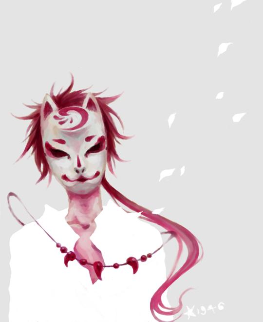手绘面具图片女性蝴蝶狐狸