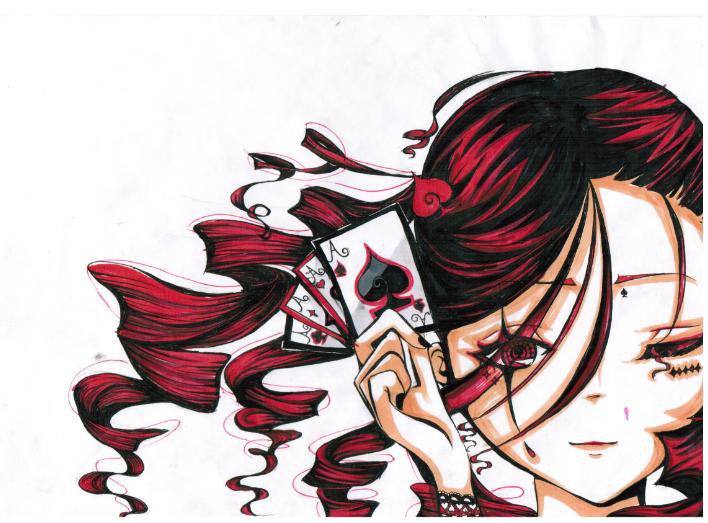 京剧动漫人物手绘图片彩铅