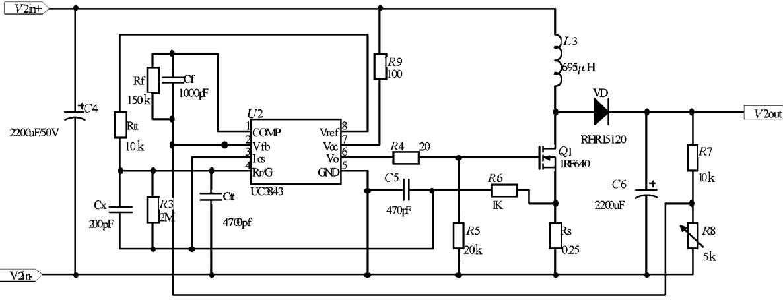 uc3843升压转换电路无输出 mos管发烫图片
