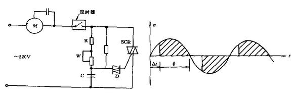 牛角风扇的调速电机内部展开接线图
