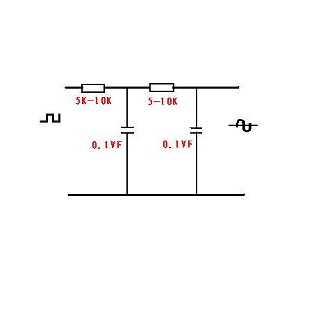 怎么把方波转换成正弦波?发张电路图