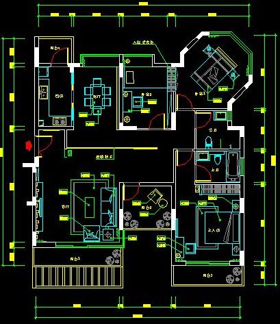 11米x11米房屋室内设计