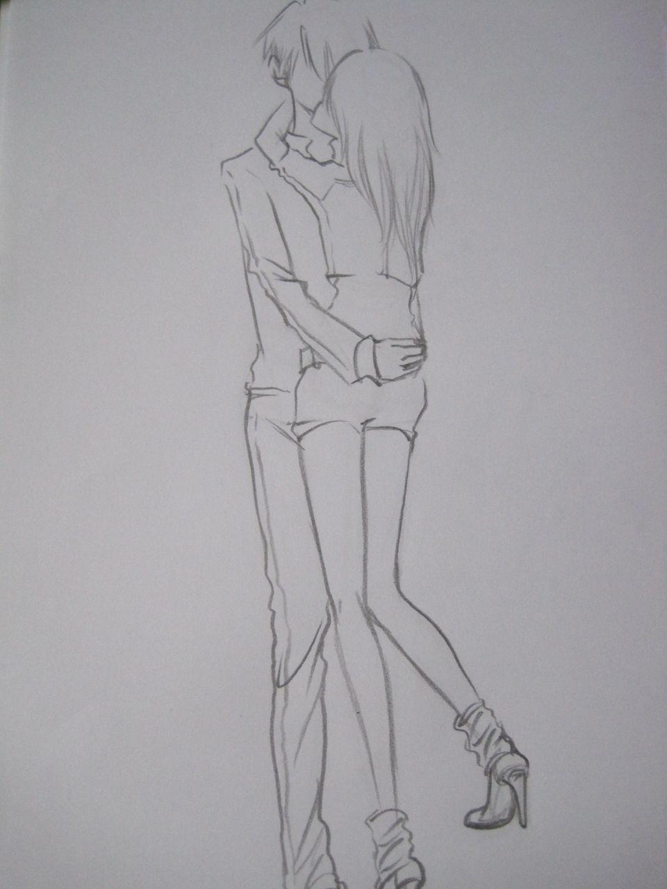 求手绘大神给长漫画男女拥抱的图片